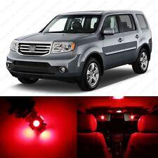 13 x Brilliant Red LED Lights Interior Package Deal For Honda PILOT 2009 - 2013