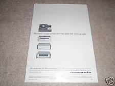 Marantz SLT-12 Turntable,15 Amp,7t Ad from 1968