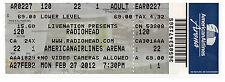 RADIOHEAD - Ticket concert The King of Limbs TOUR 2012 American Airlines Arena