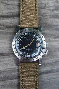 Glycine Airman 36mm Vintage Vietnam Watch 1968 JUST SERVICED