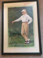 "Glen Green The Art Of Golf Lithograph Poster Print Female Golfer ""The First Tee"""