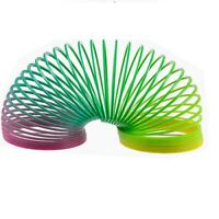 Large Rainbow Spring Coil Slinky Fun Kids Toy Magic Stretchy Bouncing