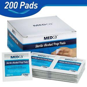 MEDca Alcohol Prep Pads Sterile Medium Best for Sensitive Skin 2 Ply - 200 Packs