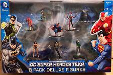 DC COMICS SUPER HEROES SET 8-Pack Superman/Poison Ivy/Batman/Robin/Flash/W Woman