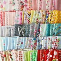 50Pcs Assorted Bundle Quilt Quilting 100% Cotton Fabric Sewing Craft DIY 10x10cm