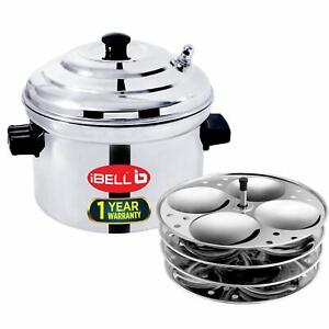 IBELL Stainless Steel Idly Cooker, Induction Gas Stove Idli Maker 16 Idly 4 plat