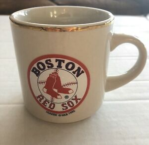 Vintage 1995 Hunter MLB Copyright Boston Red Sox Mug With Gold Trim