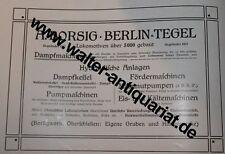 A. Borsig Berlin Lokomotiven Dampfmaschinen Große Werbeanzeige anno 1910 Reklame