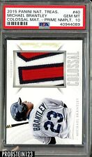2015 Panini National Treasures Colossal Materials Michael Brantley PSA 10 POP 1