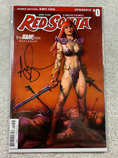 Red Sonja #0 Amy Chu Signed Variant Cover Dynamite Comic Book Bam Box Exclusive
