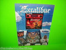 EXCALIBUR By Gottlieb 1988 ORIGINAL Pinball Machine PROMO Ad Not A Promo Flyer