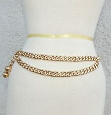 CHANEL GOLD CHAIN BELT WITH BALL CHARMS - RARE VINTAGE