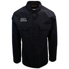 Harley-Davidson Men's Black Logo Patch L/S Woven Shirt (470)