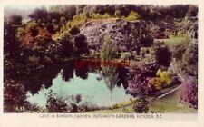 LAKE IN SUNKEN GARDEN, BUTCHART'S GARDENS, VICTORIA, B.C. CANADA - RPPC