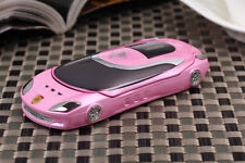 W8+ Pink Flip Sport Car Mobile Cell Phone Quadband FM Camera Bluetooth