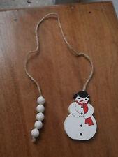 decorazione palla pallina albero Natale Pupazzo di neve palle legno dipinto mano