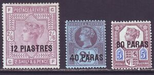 British Levant 1885 SC 3-5 MH Set
