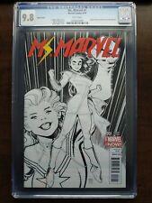 Ms Marvel #1 - CGC 9.8 1:100 Arthur Adams Sketch Variant Kamala Khan NM+