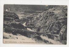 Gotthardbahn Maienreussbruecken bei Wassen Switzerland Vintage Postcard 334b