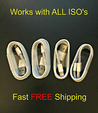 4x1M USB 8 Pin Charging/Data Sync Charger Cable/Cord Apple iPhone 5, 6 iPod iPad