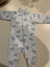 vintage baby sleeper 0-3 months with blue cars