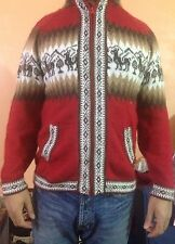 Alpaca Men Sweater  With Hood, Handmade Peru