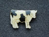 VINTAGE METAL PIN HOLSTEIN COW