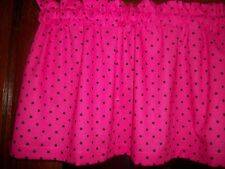 Hot Pink Black Polka-Dot mickey minnie mouse hello kitty curtain topper Valance