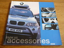 BMW X5 ACCESSORIES 2000 SALES BROCHURE jm