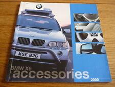 BMW X5 ACCESSORIES 2000 SALES BROCHURE jm