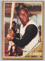 "1962  ROBERTO CLEMENTE - Topps ""REPRINT"" Baseball Card # 10 - PITTSBURGH PIRATES"