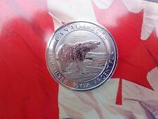 1/2 oz. 2018 Canadian Polar Bear $2 silver coin .9999 fine silver