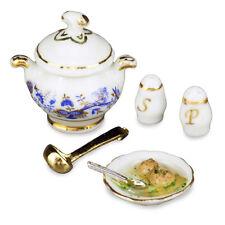 Reutter Porzellan Leberknödelsuppe Liver Dumpling Soup Puppenstube 1:12 1.451/8