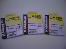 30 x Kamasan B520 Size 22 Whisker Barb Hooks To Nylon. Great for Roach & Bream.