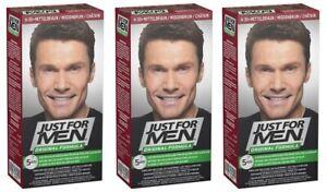 Just for Men H35 Haarfärbemittel Pflege Tönungs Shampoo Natur Mittelbraun 3er