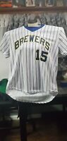 Milwaukee Brewers Jersey #15 size adult L/XL SGA