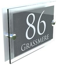 Número de casa Cristal Efecto Acrílico Signos Placas Placas de Pared de puerta nombre