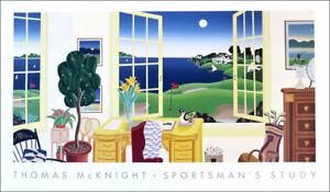 Thomas MCKNIGHT Sportsman's Study & Golf Course Poster 23 x 39