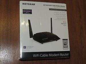 New - NETGEAR AC1200 C6220 C6220-100NAS DOCSIS 3.0 High Speed WiFi Cable Modem