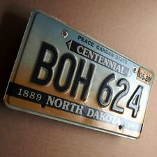 NORTH DAKOTA Nummernschild USA 1989 US License Plate BOH 624 Centennial  PERFEKT