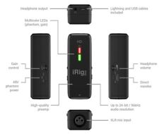 iRIG PRE HD - 24-BIT , 96HZ MICROPHONE INTERFACE/PREAMP FOR IOS, ANDROID, MAC A&