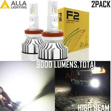 Alla Lighting LED H9 Headlight Bulb Lamp High Beam Conversion Kit Bright White