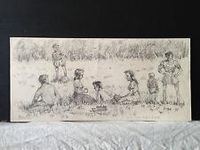 dessin sur papier, signé H.MATHY
