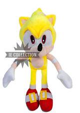 SUPER SONIC 30 CM PELUCHE pupazzo il riccio Hedgehog figure forma plush giallo