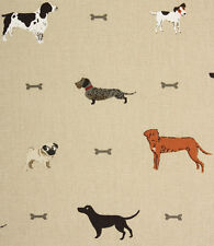 Roman Blind Sophie Allport Woof Dogs Fabric Interlined Mechanised Track MTM