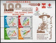 22.2.2007 - Block 39 - 100 J. Pfafinderbewegung mit Aufdruck Olympic Beijing**