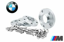 4 Pc BMW 17 mm Hub Centric Wheel Spacers W/12x1.5 Chrome Ext Lug Bolts Fast Ship