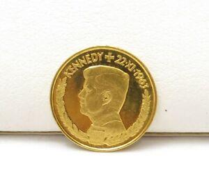 1963 Gold JOHN F KENNEDY JFK Memorial 1 Ducat Coin