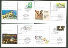 Stationery An60 Postcard Sc Germany 1993-1996 Philately (4 pcs) Below face
