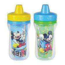 4 9oz The First Years Mickey Mouse Insulated Sippy Cups 9m Boy Blue Disney